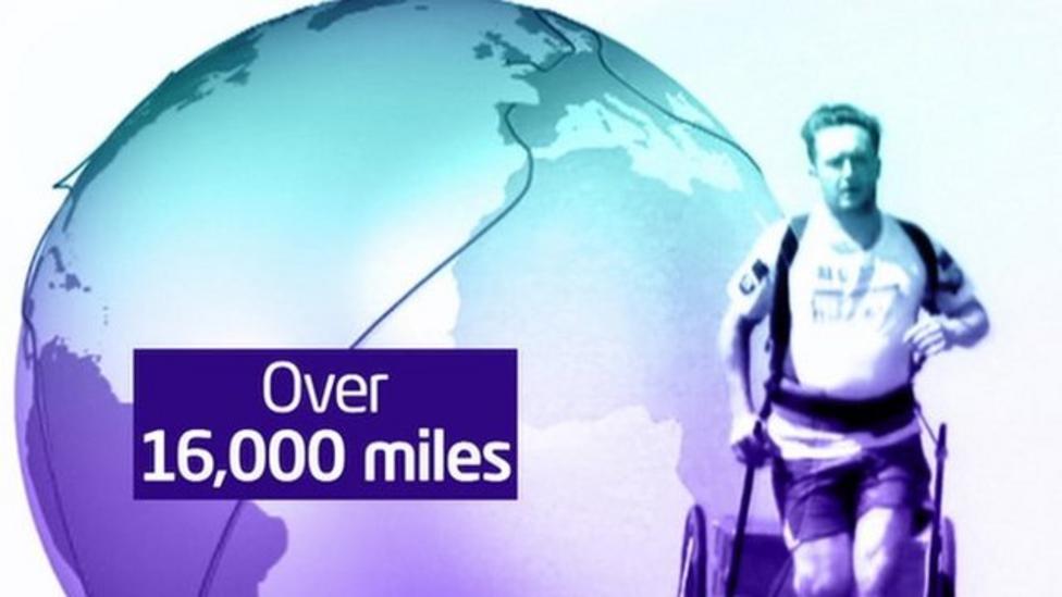 Record breaker runs around the world