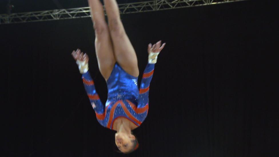 Downie sets gymnastics personal best
