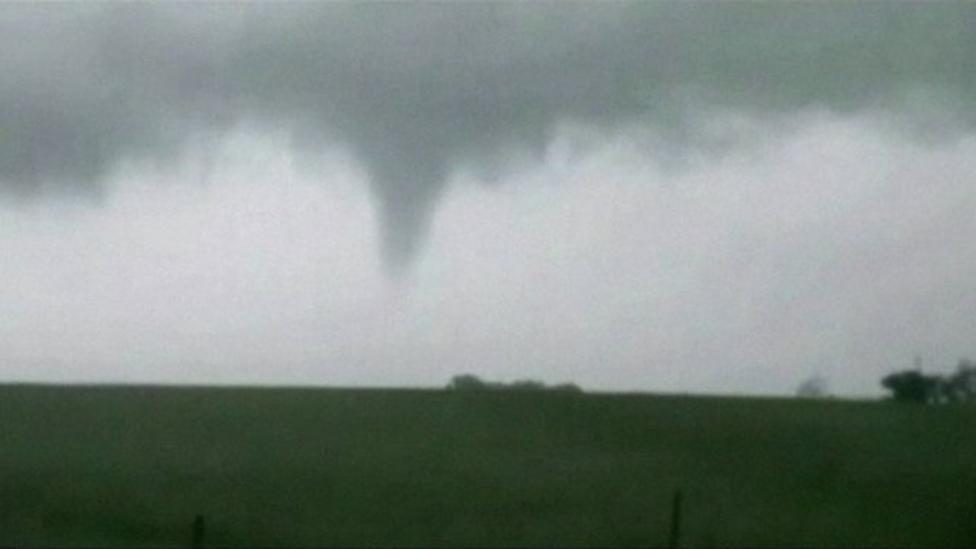Tornado video captured in Oklahoma