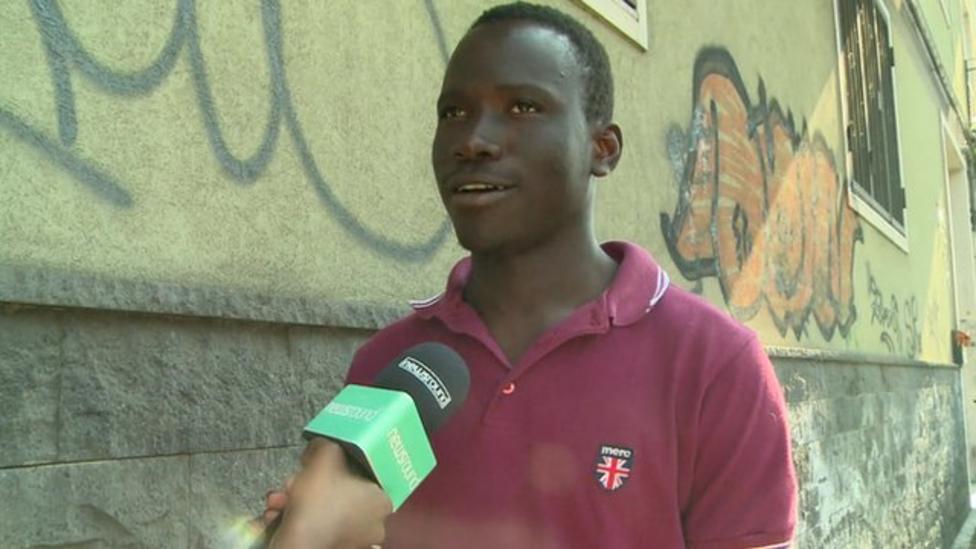 Migrant tells of 'risky' journey