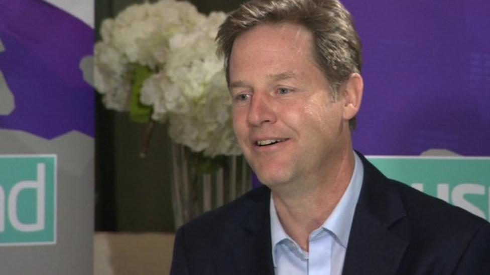 What job would Nick Clegg like to do?