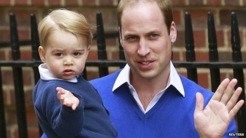 Prince George arrives to meet sister