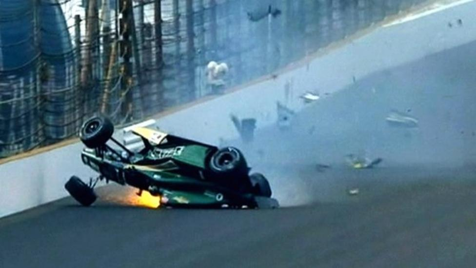 Third Indy 500 crash in a week causes rule change - BBC Sport