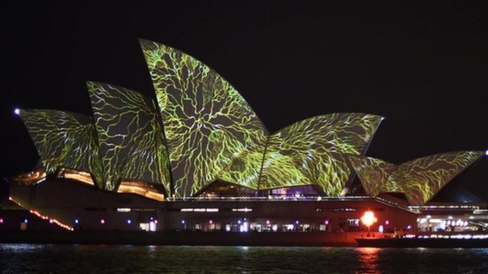 Huge festival of light begins in Australia
