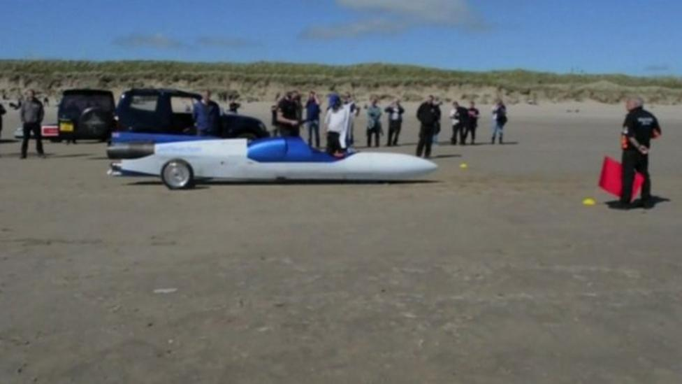 Jet-powered bike tested in Wales