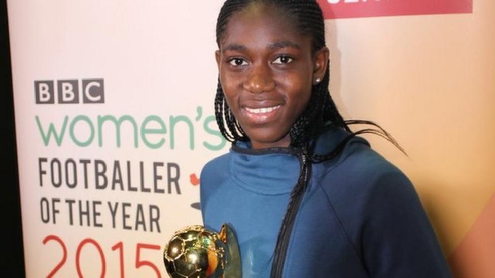 Oshoala receives BBC Women's award
