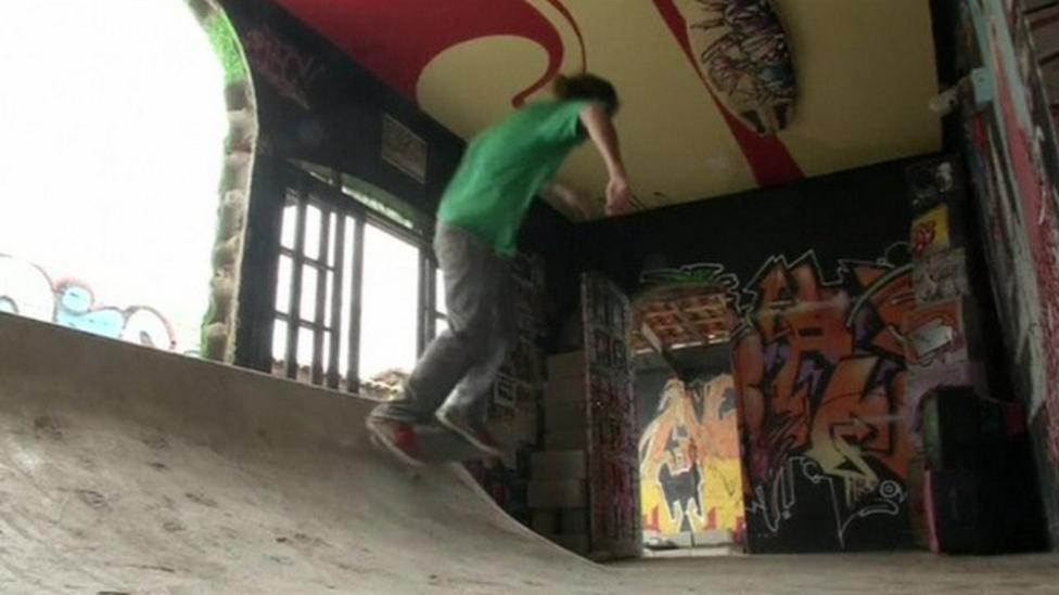 House turned into skate park in Brazil