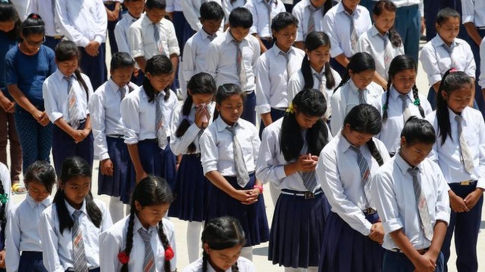 Nepalese kids go back to school