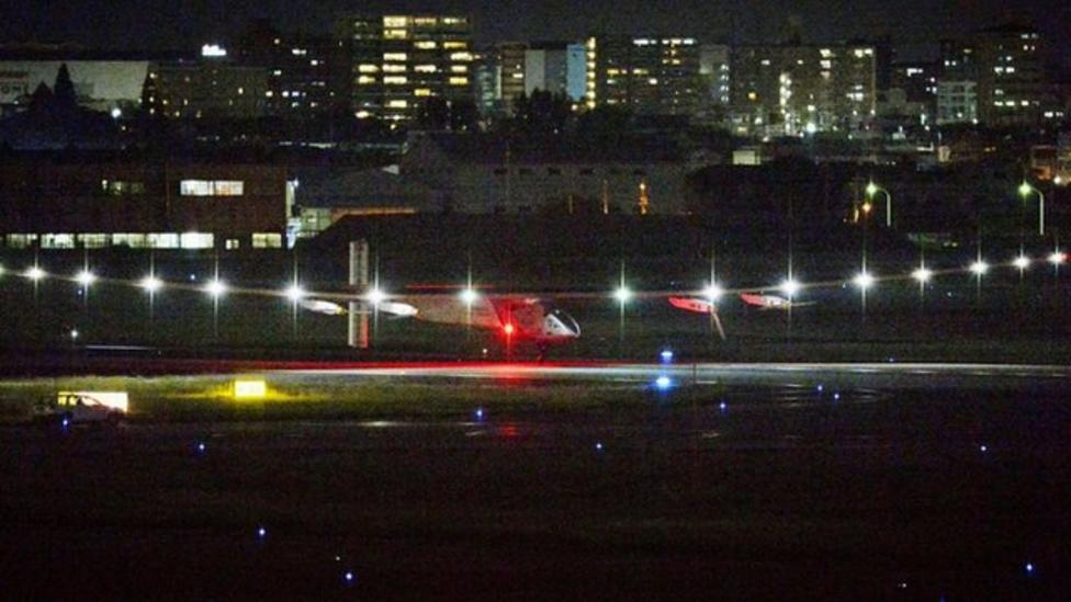 Solar Impulse lands safely in Japan