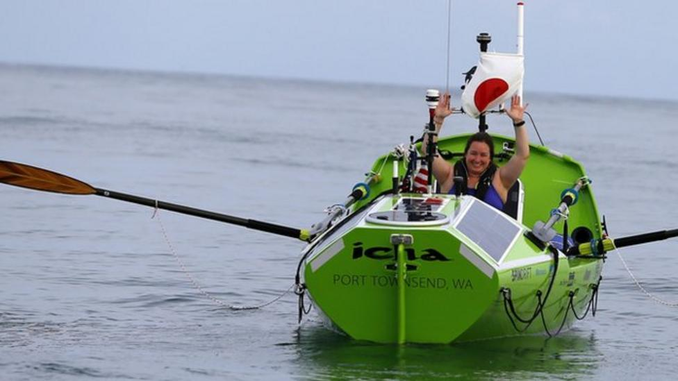 Woman attempts first solo Pacific row
