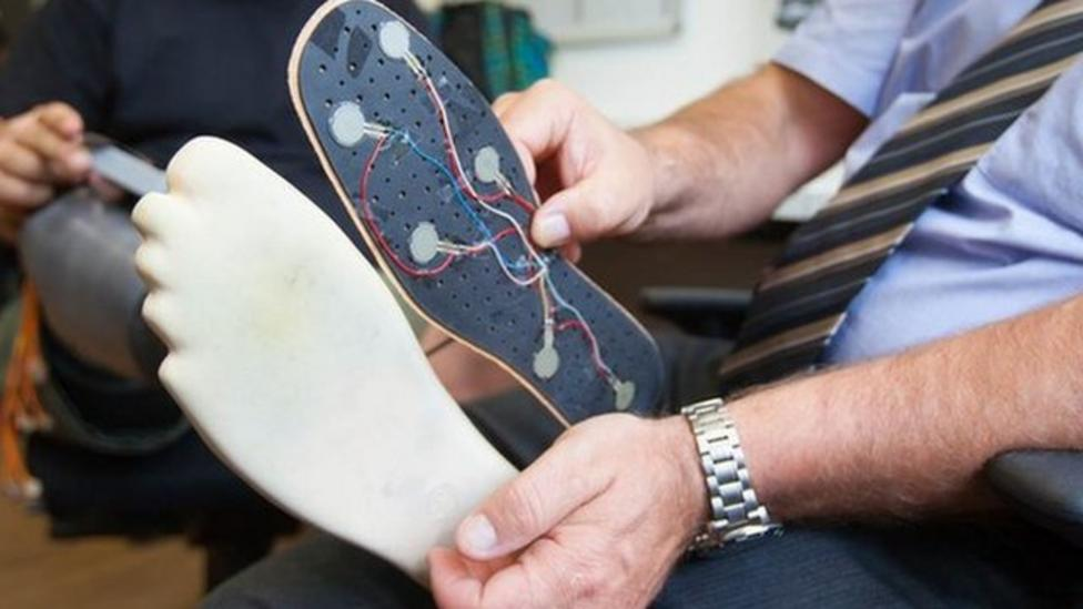 Prosthetic foot that actually feels