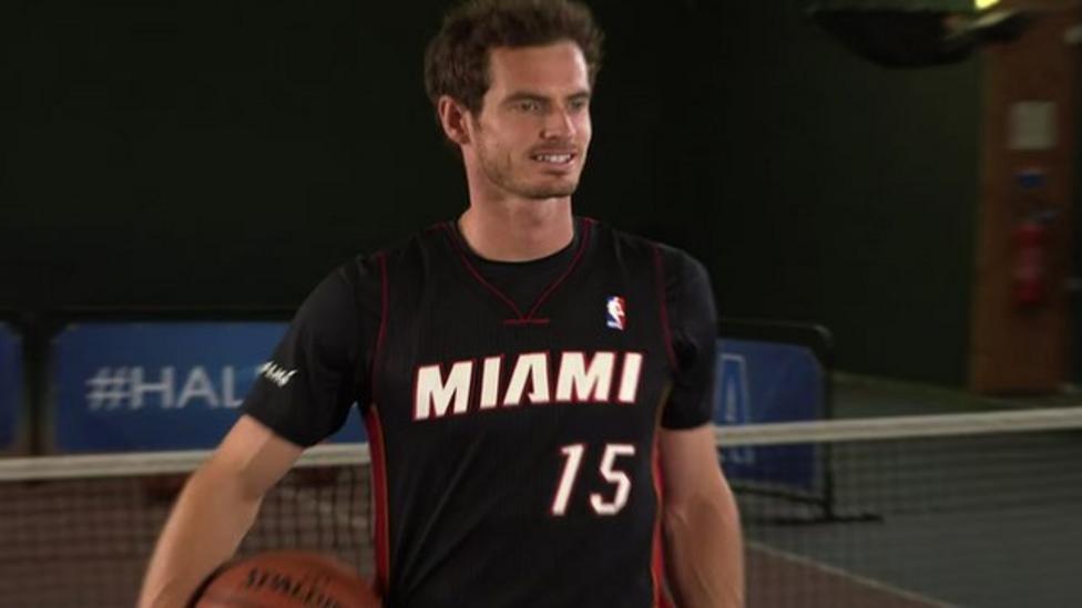 Murray's NBA half-court challenge
