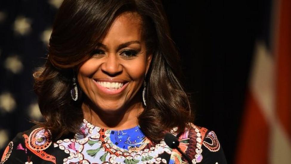 Michelle Obama visits UK school