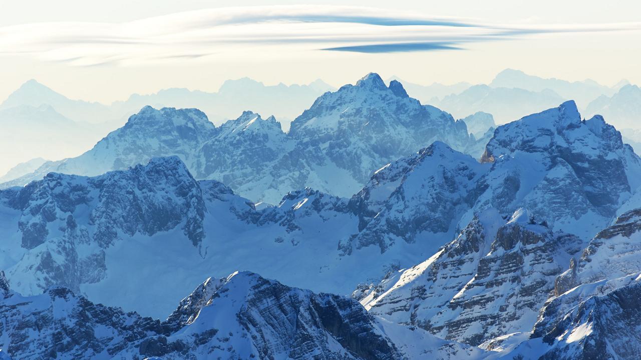 Time stands still as snow shrouds the horizon in the Julian Alps (Credit: Credit: Matevž Lenarčič)