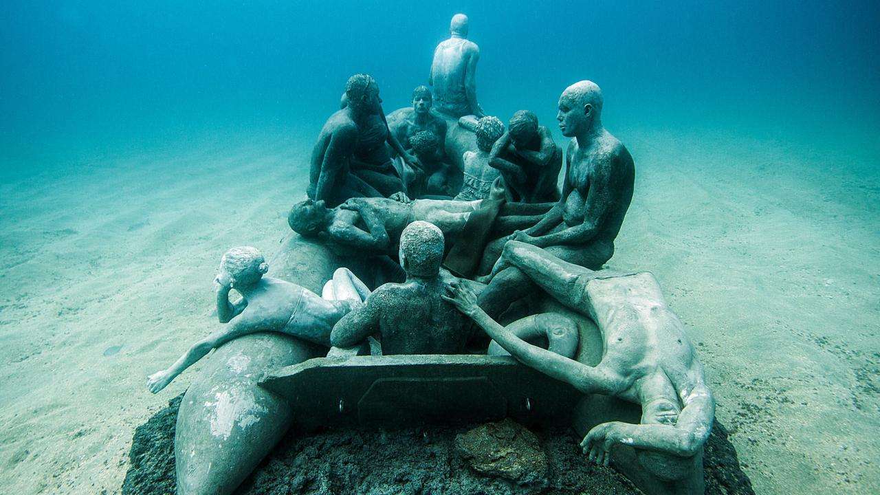 Sculptures in the Museo Atlantico