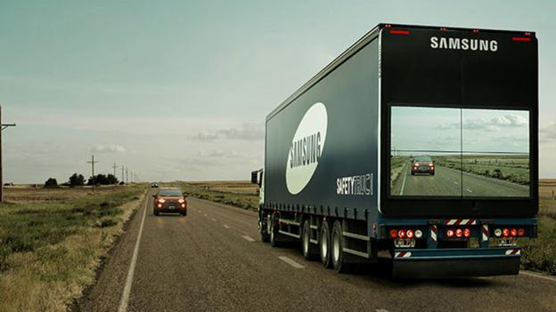 Transportation tech- see through tractor trailers