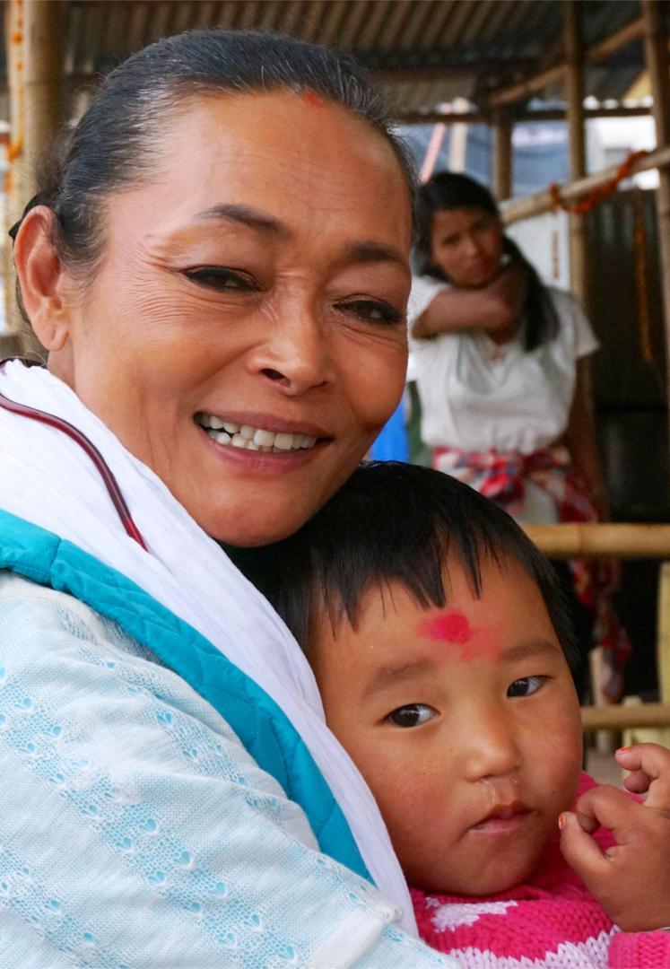 Sangita Shrestha at Camp Hope