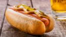 A hot dog with mustard, pickles and onions (Credit: Credit: Kostyantyn Manzhura/Alamy)