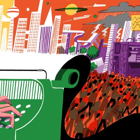 John Brunner illustration (Credit: João Fazenda)