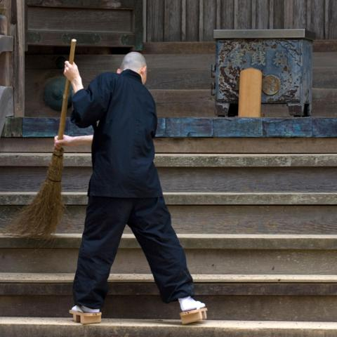 In Zen Buddhism, daily tasks like cleaning and cooking are considered spiritual exercises (Credit: Credit: Photo Japan/Alamy)