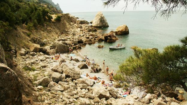 Crimea, the Ukraine's odd beach paradise