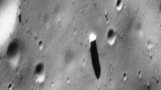 There is a huge 'monolith' on Phobos, one of Mars's moons