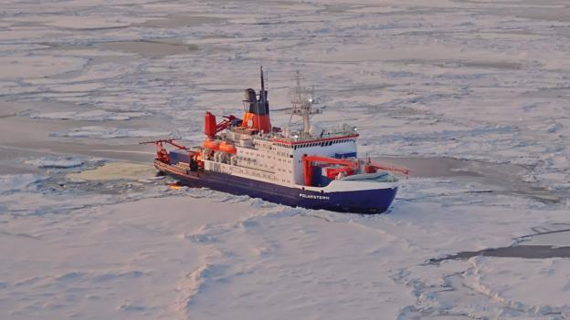 The polar voyage being threatened by thin ice