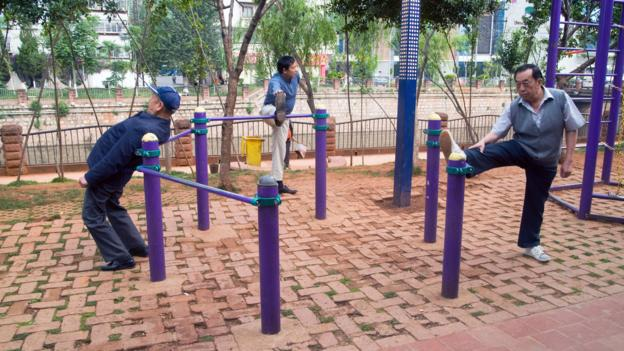 The cities designing playgrounds for the elderly