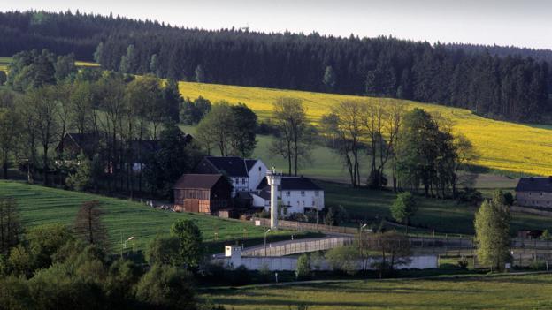 The German village split by a wall