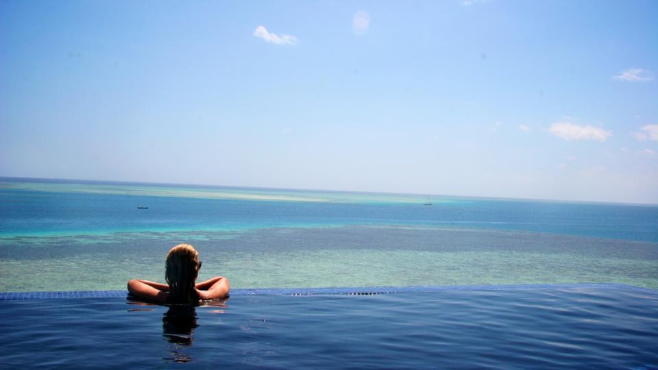 Relaxing at sea