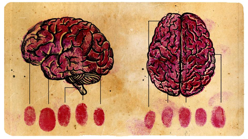 Human brains depicted as if they are fingerprints (Credit: Emmanuel Lafont)