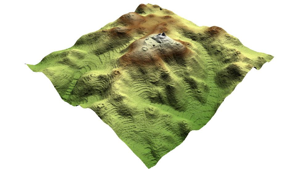 3D maps created using Lidar data allow features to be seen in fine detail, particularly large areas of agricultural terraces that once surrounded the city. (Copyright: A&DChase)