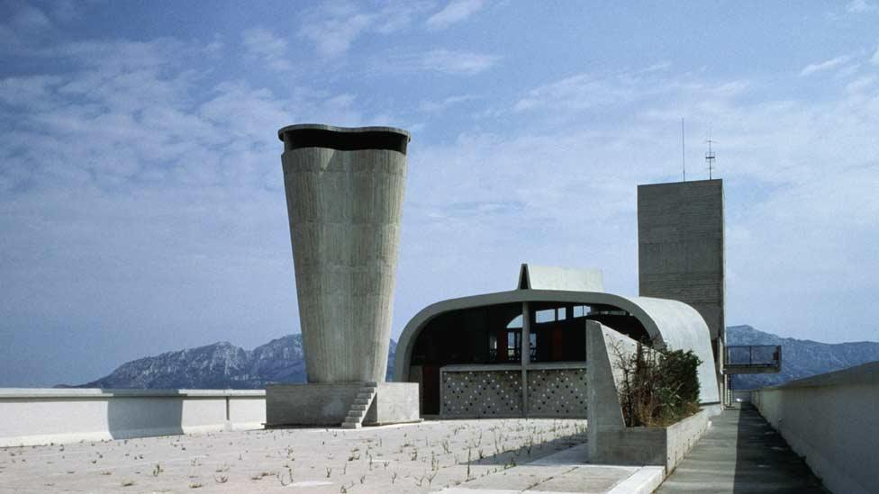 """Despite his view that a house should be a """"machine for living in"""", Le Corbusier designed the roof to provide dramatic, unparalleled views across the French countryside. (Corbis)"""