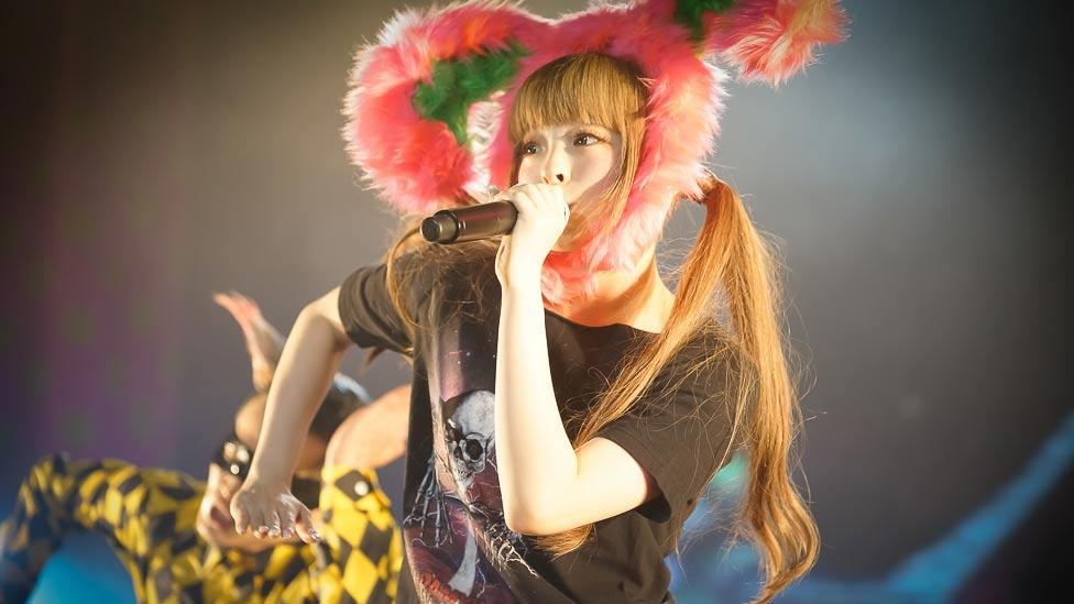 Kyary, whose real name is Kiriko Takemura represents 'kawaii' or 'cute' culture. But Kyary also embraces imperfections as part of her image. (Asobi System)