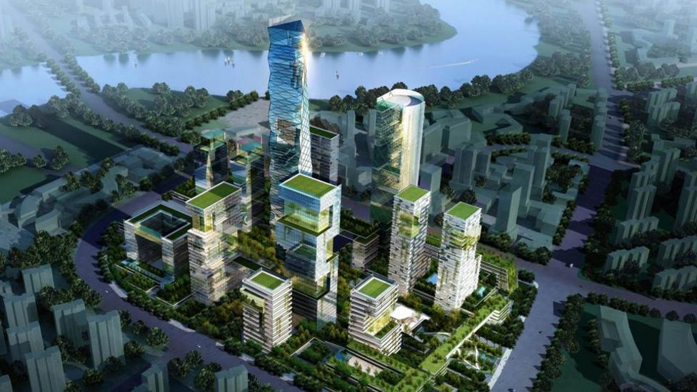 The city, 40kms from the mega city Tianjin, will revitalise polluted land, including an old wastewater pond. (Copyright: Sino-Singapore Tianjin Eco-city Development and Investment)