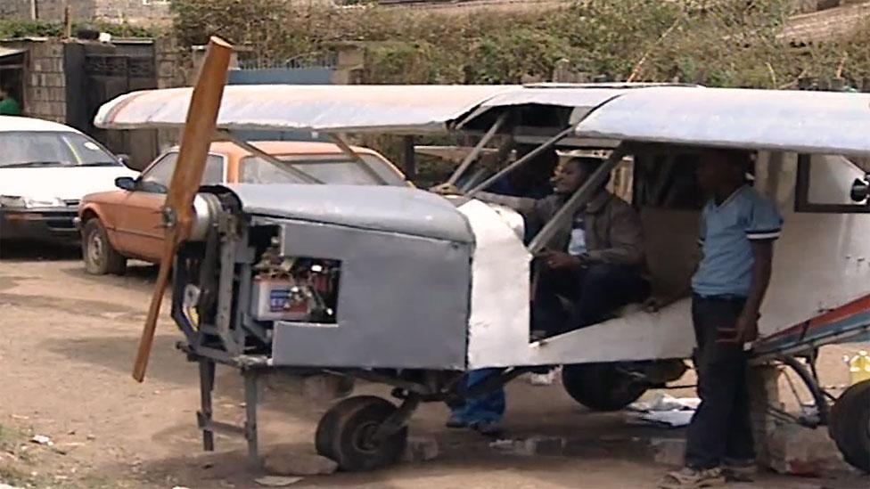 Kenyan Gabriel Nderitu Muturi spent an unsuccessful three years building a homemade two-seater aircraft running on a 40-litre Toyota engine.