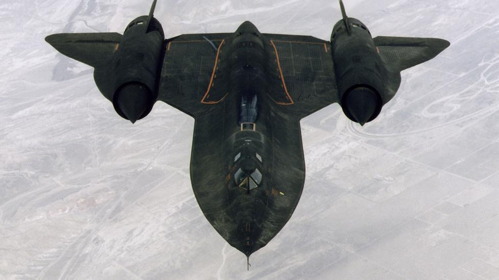 Lockheed SR-71 in flight