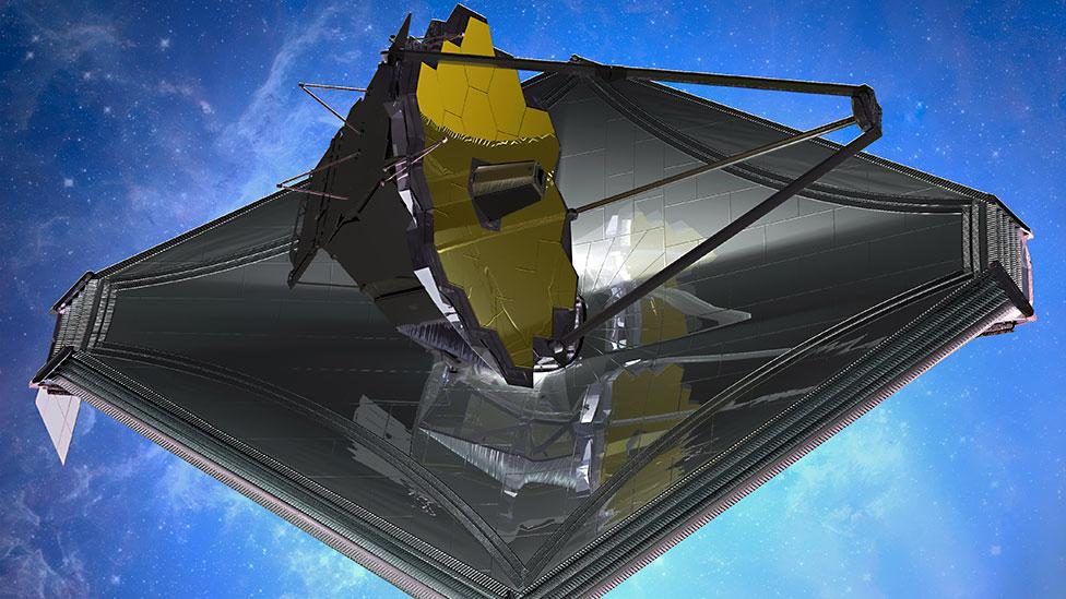 To find the first galaxies that formed in the early Universe, The James Webb Space Telescope will have a large mirror 6.5m in diameter. (Copyright: Northrop Grumman)