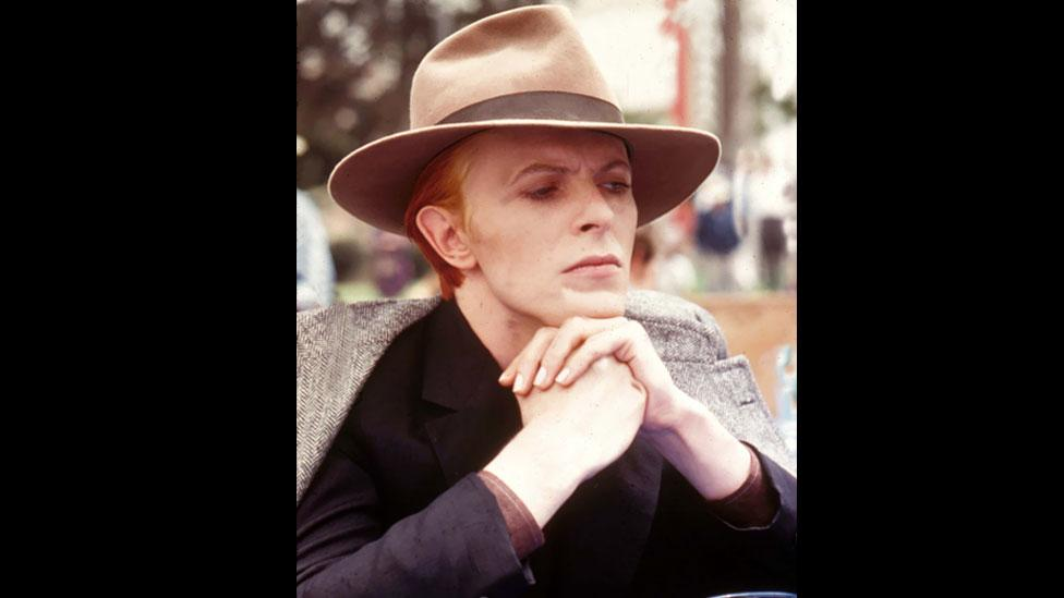 The sharp-suited Thin White Duke was an extension of the character Bowie played in Nicolas Roeg's 1976 sci-fi film, The Man Who Fell to Earth. (Rex Features)