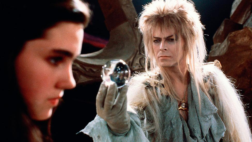 Starring with Jennifer Connelly (and Jim Henson puppets) in Labyrinth (1986), Bowie managed to pull off a feathered wig and some memorably tight grey leggings. (Rex Features)
