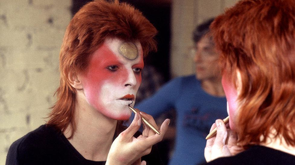 Make-up artist Pierre La Roche was responsible for Bowie's lightning bolt and astral sphere facial designs. (Rex Features)