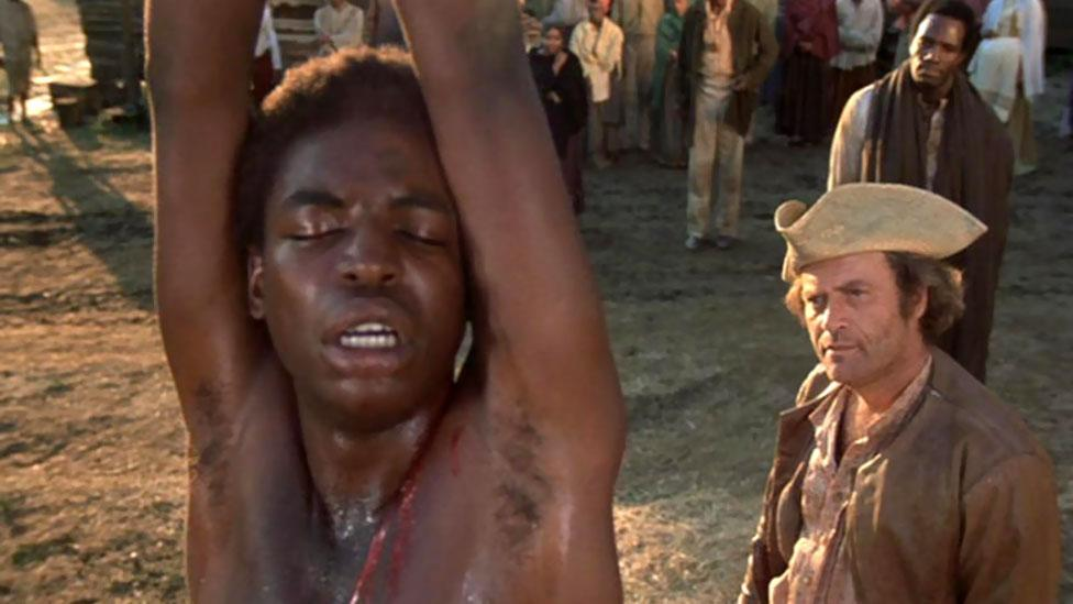 The 70s TV series Roots was based on Alex Haley's novel about slavery and was hugely successful. Its finale had some of the highest audience numbers in US TV history. (ABC)