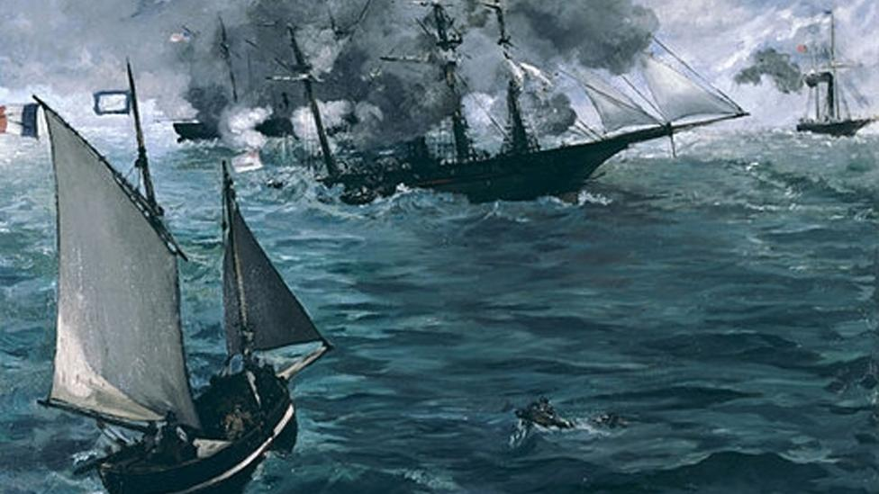 Édouard Manet, The Battle of the Kearsarge and the Alabama, 1864