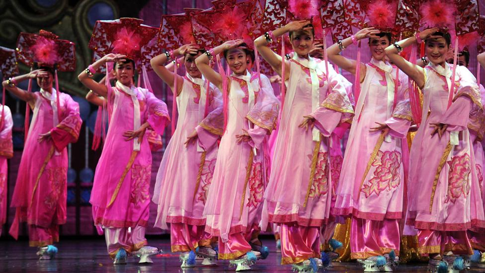 The Manchu delegation at the 2012 Ethnic Minorities Arts Festival (Corbis)