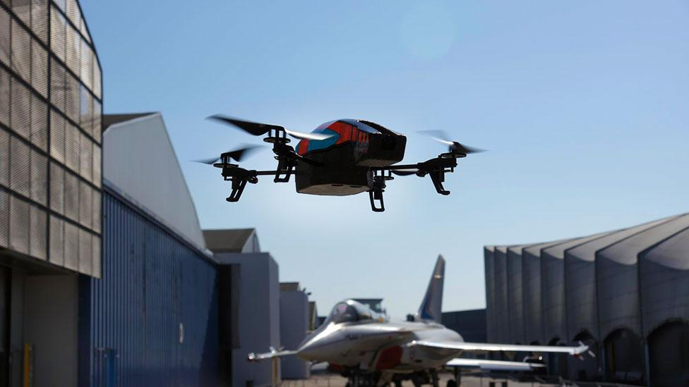 A clever hack could make Parrot AR drones target each other. (Wikimedia)