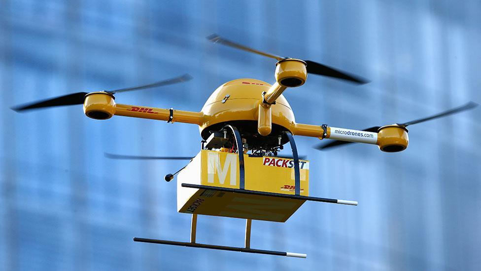 DHL delivery drones carry cargo that hackers may want to steal (Andreas Rentz/Getty Images)