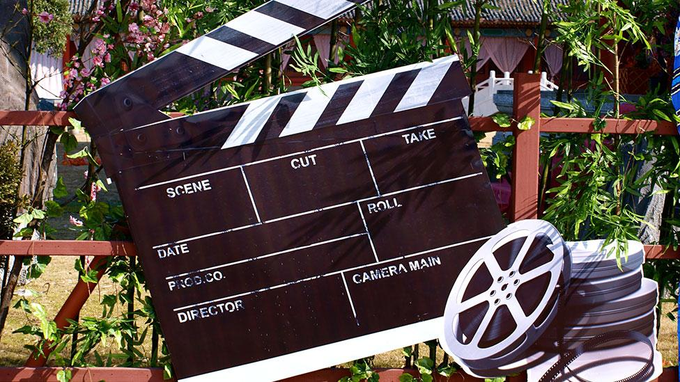 A film board in the Palace of Ming and Qing Dynasties (Clarissa Sebag-Montefiore)