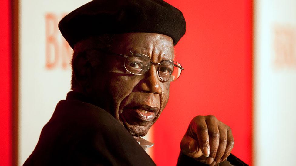 Chinua Achebe (AP Photo/Brown University/Mike Cohea)