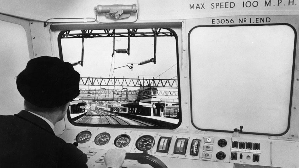 Using virtual reality for training isn't new, as this trainee train driver watching an artificial journey on a TV screen shows. (Keystone/Getty Images)