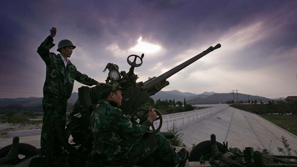 In 2008, Chinese authorities fired 1,100 rockets into the skies to divert rain from Beijing during the Olympics (Getty Images)